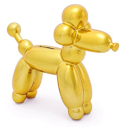 Balloon Animal French Poodle Small Gold Money Bank