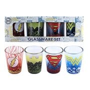 DC Characters Logos Fade Mini-Glass 4-Pack