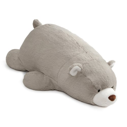Snuffles Bear Laying Down Gray Plush