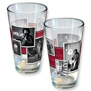 Garcia Black and White Photo Montage Pint Glass