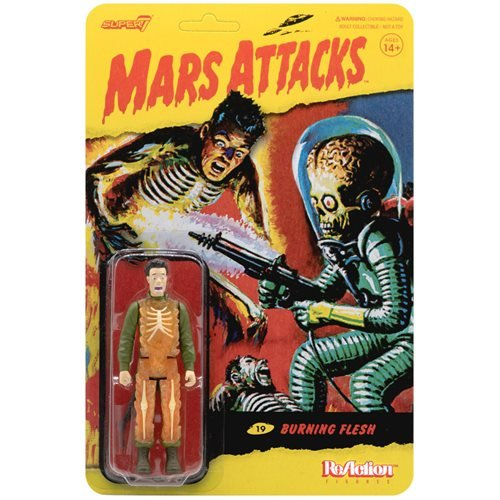 Mars Attacks Burning Human Skeleton 3 3/4-Inch ReAction Figure