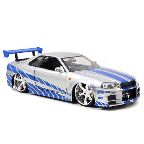 Fast and the Furious 2002 Nissan Skyline GT-R 1:24 Scale Die-Cast Metal Vehicle