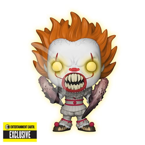 It Pennywise with Spider Legs Glow-in-the-Dark Pop! Vinyl Figure #227 - Entertainment Earth Exclusiv