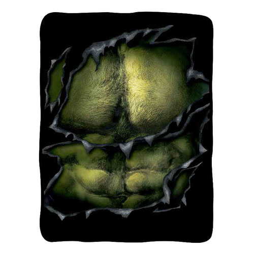 Hulk Chest Fleece Throw Blanket