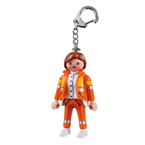 Playmobil 6666 Medic Action Figure Key Chain