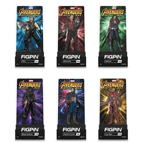 Avengers Assorted FiGPiN Enamel Pins 6-Pack Case