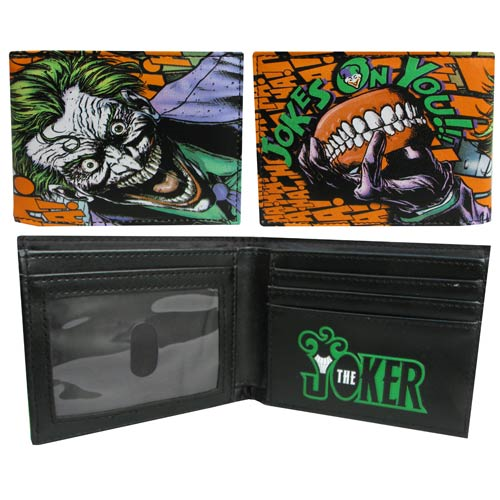 Batman Joker Dye Sub Screen Print Bi-Fold Wallet