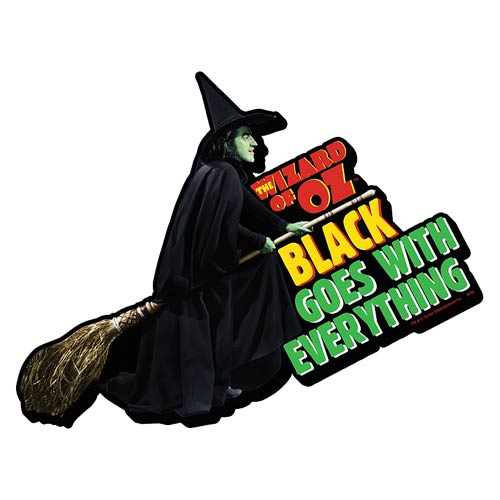 The Wizard of Oz Black Funky Chunky Magnet