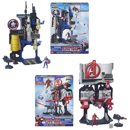 Captain America Civil War 2 1/2-Inch Playsets Wave 1 Set