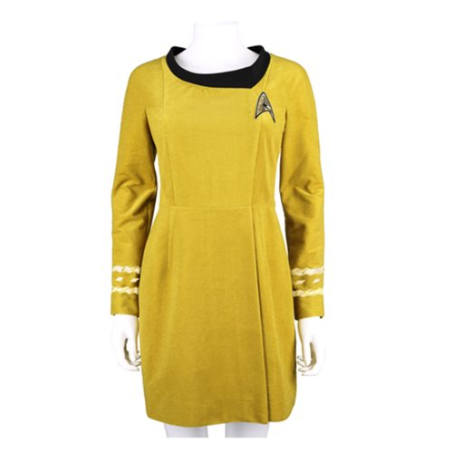 Star Trek the Original Series 50th Anniversary Command Gold Velour Line Dress Prop Replica