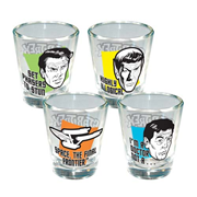 Star Trek Quotes Shot Glass 4-Pack