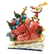 Dr. Seuss The Grinch Grinch on Sleigh Statue by Jim Shore