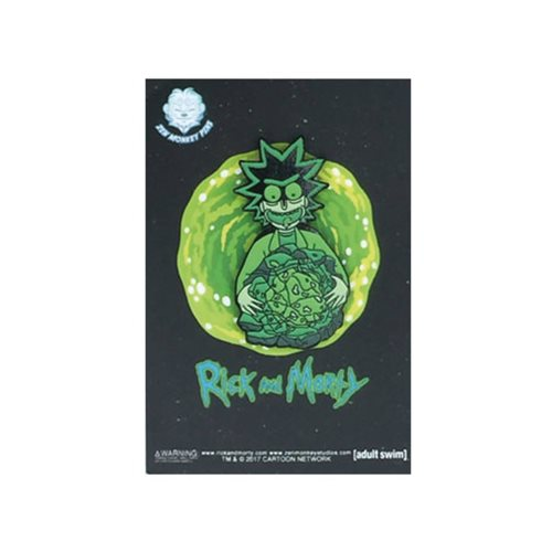 Rick and Morty Glow-in-the-Dark Rick's Isotope Lapel Pin