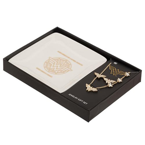 Wonder Woman Jewelry Set with Tray