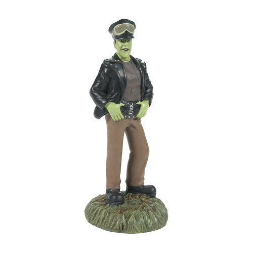 The Munsters Hot Properties Village Herman the Punk Rod Statue
