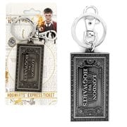 Harry Potter Hogwarts Express Ticket Pewter Key Chain