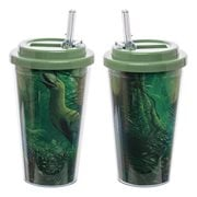 Smithsonian Deep Forest 16 oz. Flip-Straw Acrylic Cup