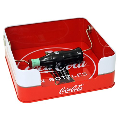 Coca-Cola Napkin Dispenser with Bottle Handle Tin