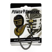 Mighty Morphin Power Rangers Gold Zeo Ranger Lapel Pin Set