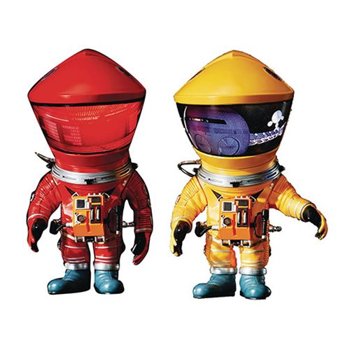 2001: A Space Odyssey DF Red and Yellow Astronaut Defo Real Soft Vinyl Figure 2-Pack