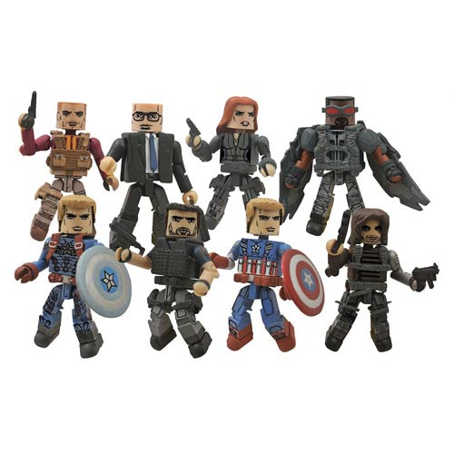 Marvel Minimates Series 55 Captain America 2 Movie Set