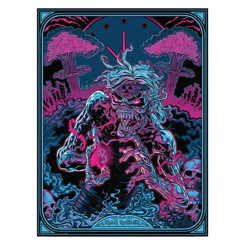 Iron Maiden 2 Minutes to Midnight by Zombie Yeti Art Print