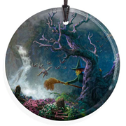 Wizard of Oz Wicked Witch and Monkeys by Thomas Kinkade StarFire Prints Hanging Glass Print