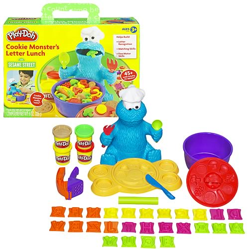 Play Doh Sesame Street Cookie Monster Letter Lunch