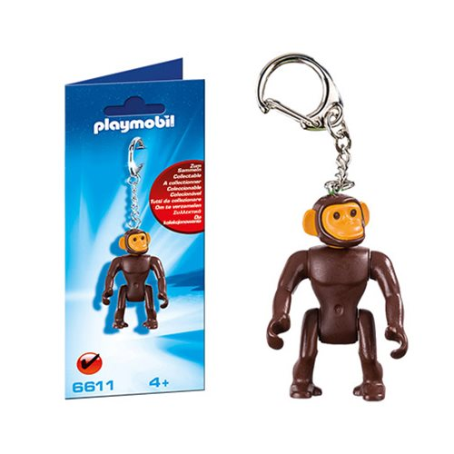 Playmobil 6611 Monkey Figure Key Chain