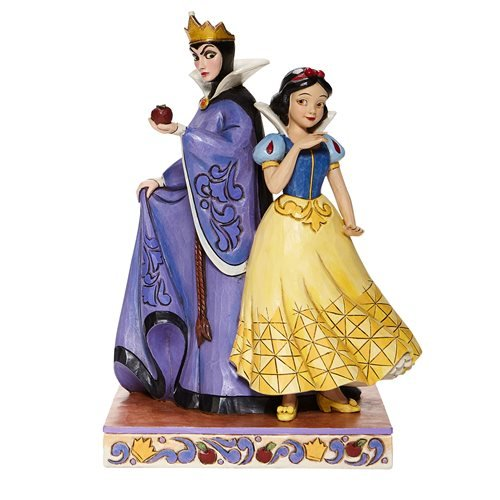 Disney Traditions Snow White and the Seven Dwarfs Snow White and Evil Queen Evil and Innocence by Jim Shore Statue