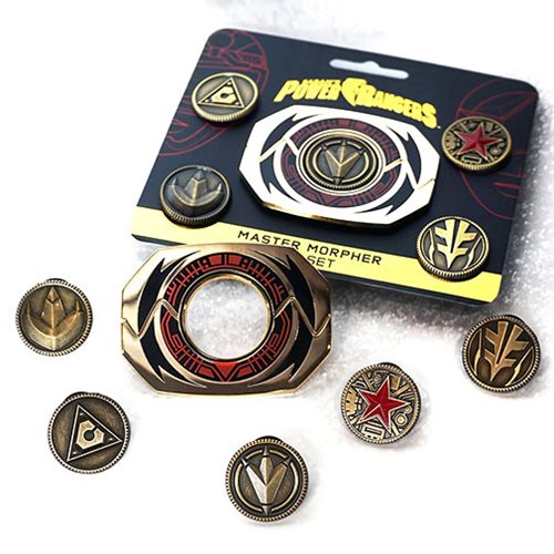 Power Rangers Ninjetti Power Coin Pin Set 21MM 6 Fits Master Morphers