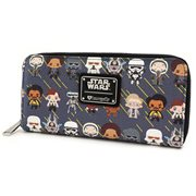 Star Wars Solo Chibi Character Print Zip-Around Wallet
