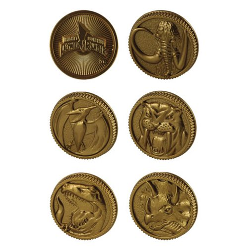 Mighty Morphin Power Rangers Legacy Die-Cast Coin Set