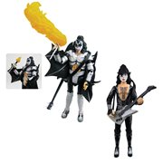 KISS Destroyer The Demon with Fire and The Starchild with Firehouse Black Hat 3 3/4-Inch Action Figure Set