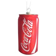Coca-Cola Can 4 3/4-Inch Glass Holiday Ornament