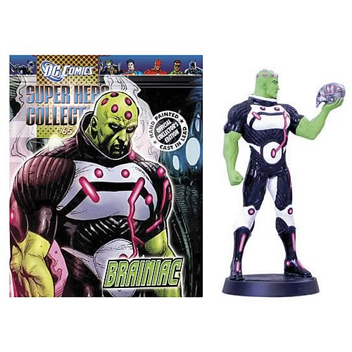 DC Brainiac Collector Magazine with Figure