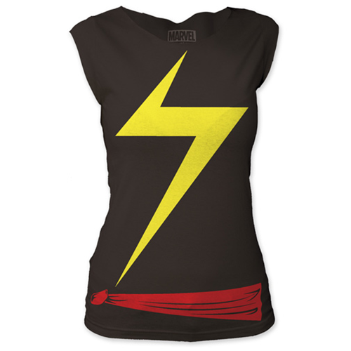 Ms. Marvel Suit Costume Ladies T-Shirt