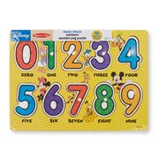 Mickey Mouse Numbers Wooden Peg Puzzle