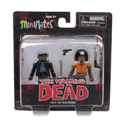 The Walking Dead Minimates Series 5 Michonne and Tyreese Mini-Mates