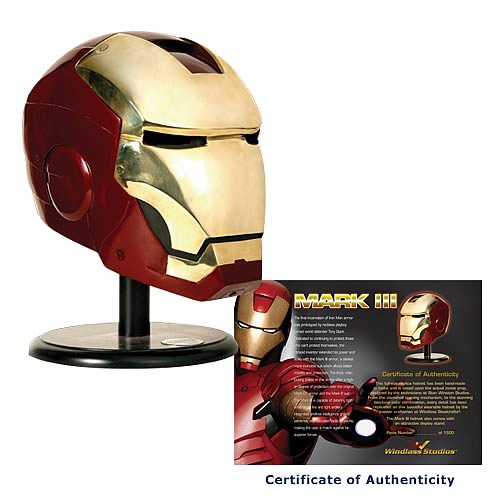 Iron Man Movie Mark III Helmet Replica