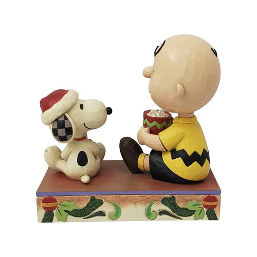Peanuts Charlie Brown and Snoopy Hot Christmas Cocoa Statue by Jim Shore