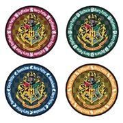 Harry Potter Hogwarts Crest Round Colored Coaster 4-Pack