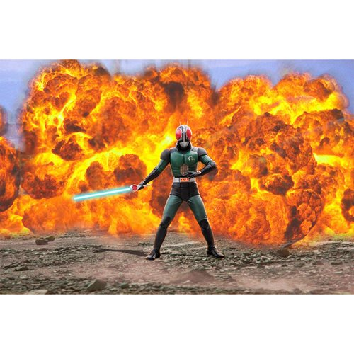 Kamen Rider Ultimate Article Masked Rider Black RX Light-Up Statue