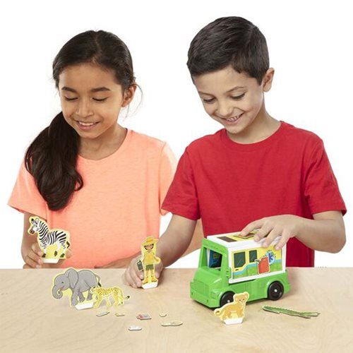 Magnetivity Safari Rescue Magnetic Building Play Set