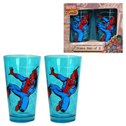 Spider-Man Swinging Blue Pint Glass 2-Pack