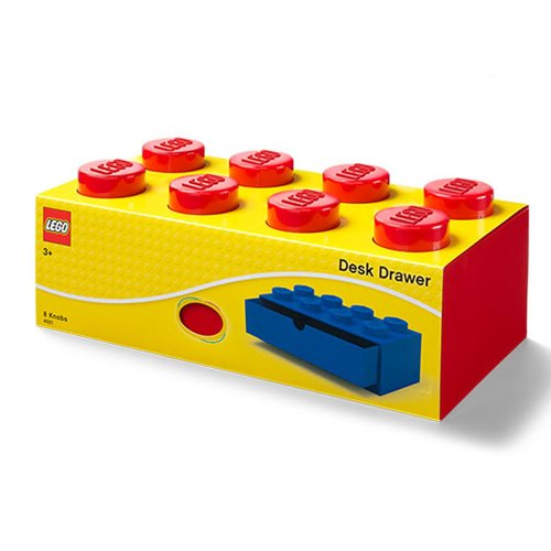 LEGO Red Desk Drawer 8 Storage Box