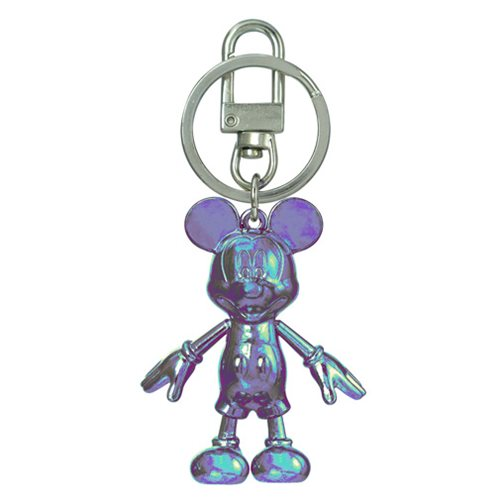 Mickey Mouse October Opal Pewter Dangle Key Chain