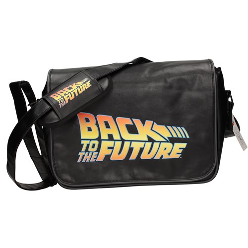 Back to the Future Logo Messenger Bag with Back Flap