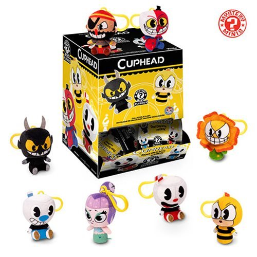 Cuphead Mystery Minis Plush Key Chain Display Case
