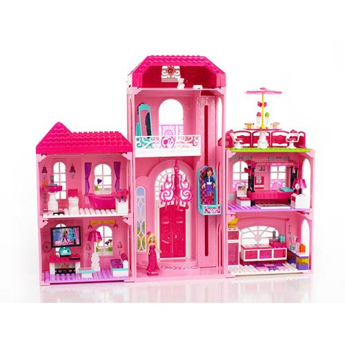 Mega Bloks Barbie Build N Style Luxury Mansion Playset